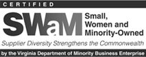 Certified Small, Women and Minority-Owned Business by the Virginia Department of Minority Business Enterprise